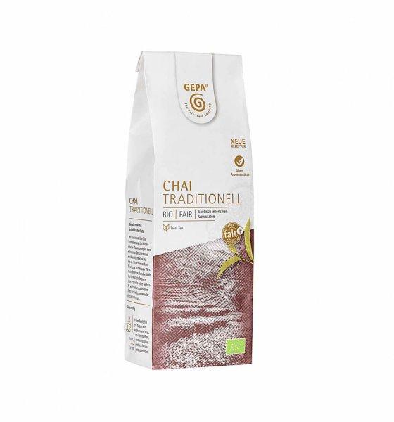Bio-Chai Tee, traditionell-Indischer Bio-Chai aus Fairem Handel von GEPA-Fairer Handel mit Tee und Gewuerzen-Fair Trade Bio-Chai Gewuerztee aus Indien