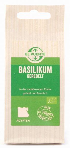 Bio-Basilikum, gerebelt-Bio-Basilikum aus Fairem Handel von El Puente-Fairer Handel mit Kraeutern und Gewuerzen-Fairtrade Bio-Basilikum von SEKEM Aegypten