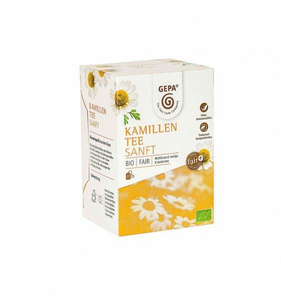 Bio-Kamillentee-Bio-Kamillentee Teebeutel aus Fairem Handel von GEPA-Fairer Handel mit Kraeutern und Kamille-Fairtrade Bio-Kamillentee von SEKEM Aegypten