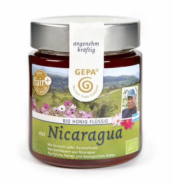 Bio-Honig, flüssig-Bio-Honig fluessig aus Fairem Handel-Fairer Handel mit Honig aus Lateinamerika-Fairtrade Bio-Honig fluessig aus Nicaragua