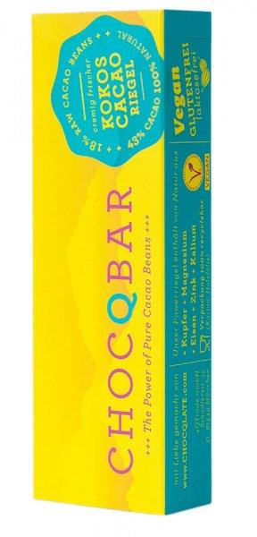 ChocQbar Bio-Superfood Kakaoriegel Kokos
