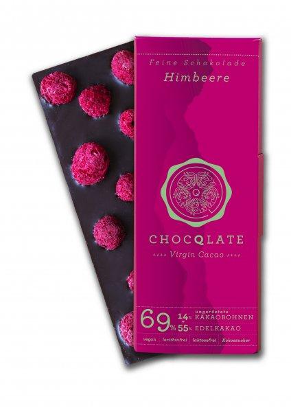 Bio-Schokolade Virgin Cacao Himbeere