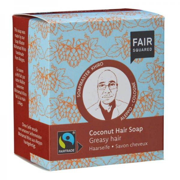 Haarseife Coconut-Naturkosmetik Haarseife Kokosnuss aus Fairem Handel-Fairer Handel mit Naturkosmetik und Wellnessprodukten-Fairtrade Naturkosmetik von Fair Squared Indien Palaestina
