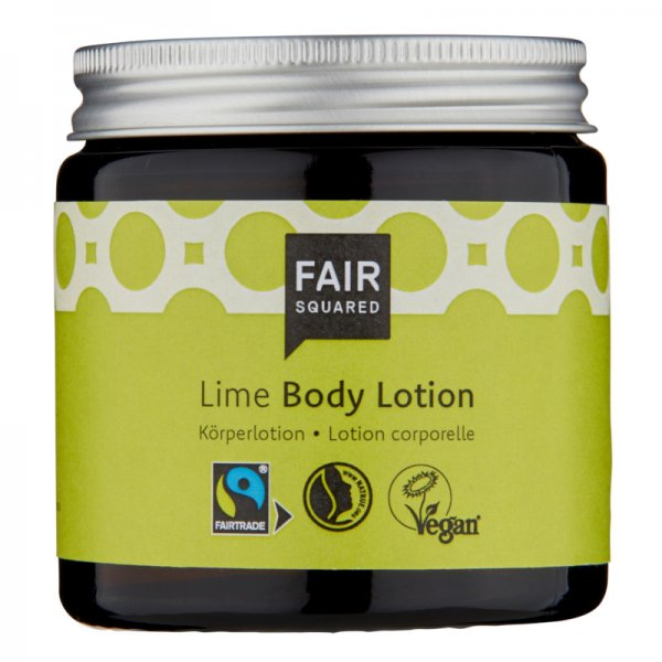 Body Lotion Lime-Naturkosmetik Body Lotion aus Fairem Handel Fair Squared-Fairer Handel mit Naturkosmetik und Oelen-Fair Trade Naturkosmetik vegan halal