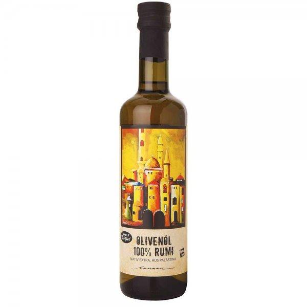 Bio-Olivenöl 'Rumi', nativ extra-Bio-Olivenoel Rumi aus Fairem Handel Weltpartner-Fairer Handel mit Oliven alte Sorten-Fairtrade Bio-Olivenoel aus Palaestina