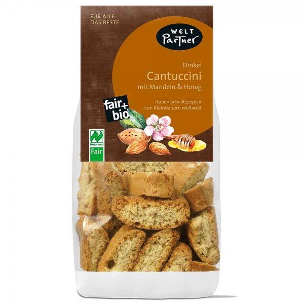 Bio-Cantuccini Dinkel-Bio-Cantuccini Dinkel aus Fairem Handel-Fairer Handel mit Kleinbauern-Fair Trade Bio-Cantuccini Mandel Honig