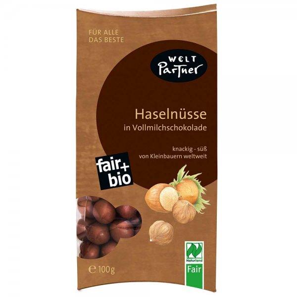 Bio-Haselnüsse in Vollmilchschokolade-Bio-Haselnüsse in Vollmilchschokolade aus Fairem Handel-Fairer Handel mit Nüssen Schokolade-Fair Trade Bio-Haselnüsse Vollmilchschokolade Türkei