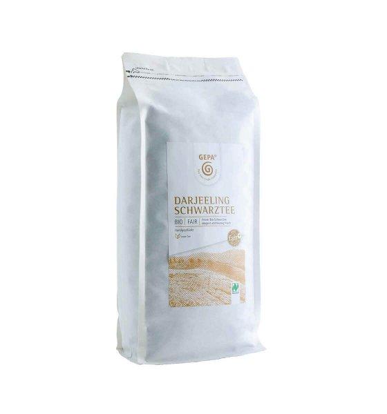 Bio-Schwarztee Darjeeling, 1 kg-Darjeeling Bio-Schwarztee aus Fairem Handel Grosspackung von GEPA-Fairer Handel mit Tee und Darjeeling Schwarztee-Fairtrade Bio-Schwarztee aus Darjeeling Indien