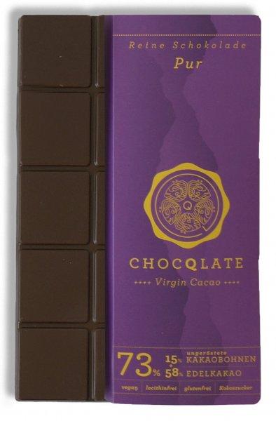 Bio-Schokolade Virgin Cacao Pur-vegane Bio-Schokolade Pur Chocqlate aus Fairem Handel-Fairer Handel mit Schokolade Rohkakao Kakao-Fair Trade Bio-Schokolade vegan glutenfrei laktosefrei lecithinfrei
