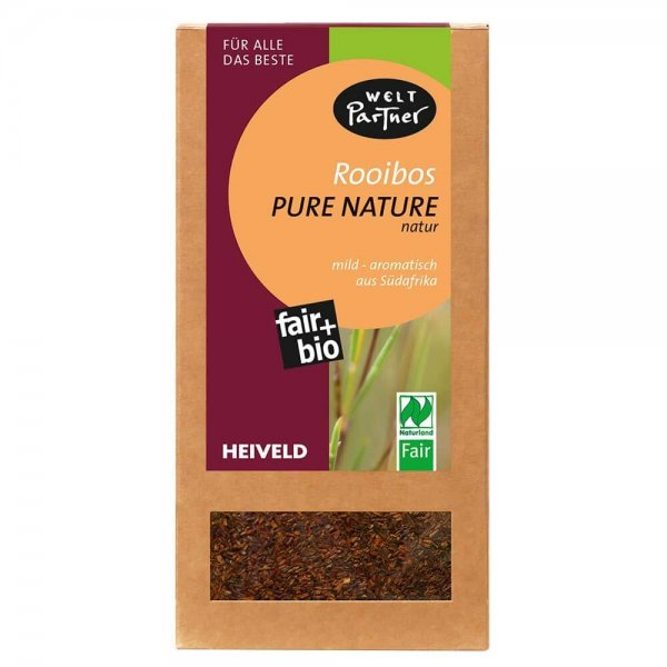 Bio-Rooibostee 'Pure Nature'-Bio-Rooibostee Rooibos aus Fairem Handel von Weltpartner-Fairer Handel mit Tee und Rooibos-Fair Trade Bio-Rooibostee Rooibos aus Suedafrika