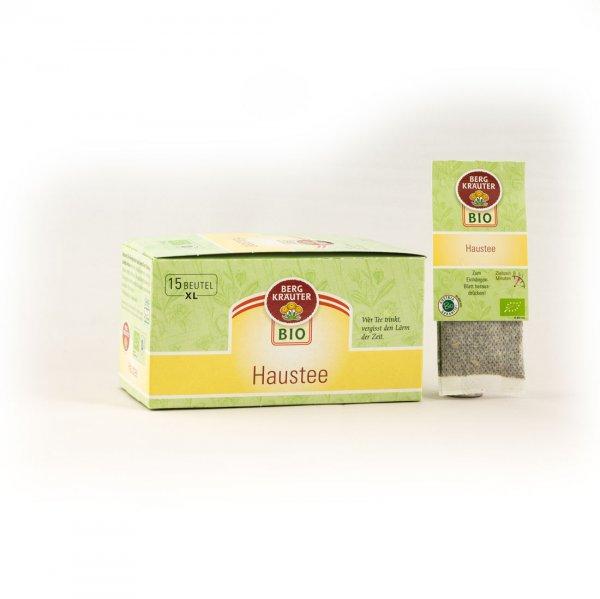 Haustee Bio-Kräutertee, im XL-Teebeutel-Bio-Kraeutertee Teebeutel aus Fairem Handel von Bergkraeuter-Fairer Handel mit Tee und Kraeutern in Europa-Fairtrade Bio-Kraeutertee aus Oesterreich