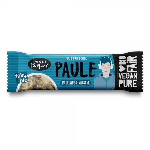 Bio-Nussriegel 'Paule', Haselnuss - Kirsche-Bio-Nussriegel vegan aus Fairem Handel-Fairer Handel mit Nuessen und Fruechten-Fairtrade Bio-Nussriegel vegan aus der Tuerkei