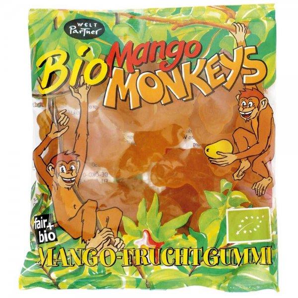 Bio-Fruchtgummis 'Mango Monkeys'-Bio Fruchtgummis Mango aus Fairem Handel Weltpartner-Fairer Handel mit Suessigkeiten und Mangos fuer Kinderrechte-Fair Trade Bio-Fruchtgummis PREDA Philippinen