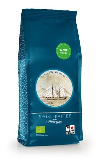 Bio-Segel-Kaffee, ganze Bohne-Bio-Roestkaffee Segel-Kaffee aus Fairem Handel von Cafe Chavalo-Fairer Handel mit Kaffee alternativ transportiert-Fairtrade Bio-Segel-Kaffee von Kleinbauern aus Nicaragua