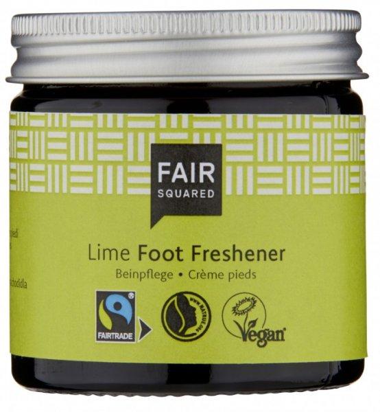 Fußcreme Lime Foot Freshener-Naturkosmetik Fuss-Creme Lime aus Fairem Handel Fair Squared-Fairer Handel mit Naturkosmetik und Oelen Fair Squared-Fair Trade Naturkosmetik vegan halal