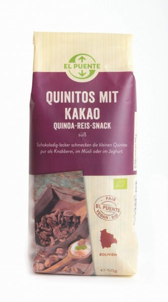 Bio-Quinitos mit Kakao-Bio-Quino-Reis Flakes aus Fairem Handel-Fairer Handel mit Quinoa und Reis-Fairtrade Bio-Quino-Reis Flakes aus Bolivien