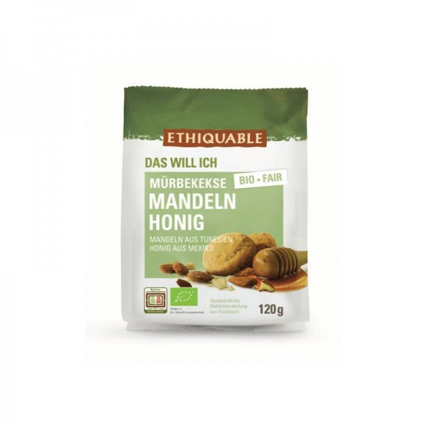 Bio-Mürbegebäck Mandeln-Honig-Bio-Muerbegebaeck Kekse Mandeln Honig aus Fairem Handel-Fairer Handel in Nord und Sued-Fairtrade Bio-Muerbekekse von Ethiquable aus Tunesien