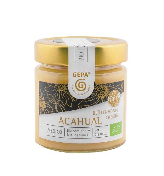 Bio-Honig Acahualblüten, cremig-Bio-Honig Acahualblueten von GEPA aus Fairem Handel-Fairer Handel mit Honig Spezialitaeten-Fair Trade Bio-Honig von Kleinbauern aus Mexiko