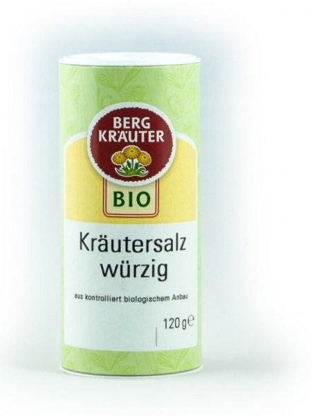 Bio-Kräutersalz 'würzig', mit Meersalz-Bio-Kräutersalz Meersalz Bergkraeuter aus Fairem Handel-Fairer Handel Kraeutern und Salz in Europa-Fairtrade Bio-Kraeutersalz Mischung von Bergbauern aus Oesterreich