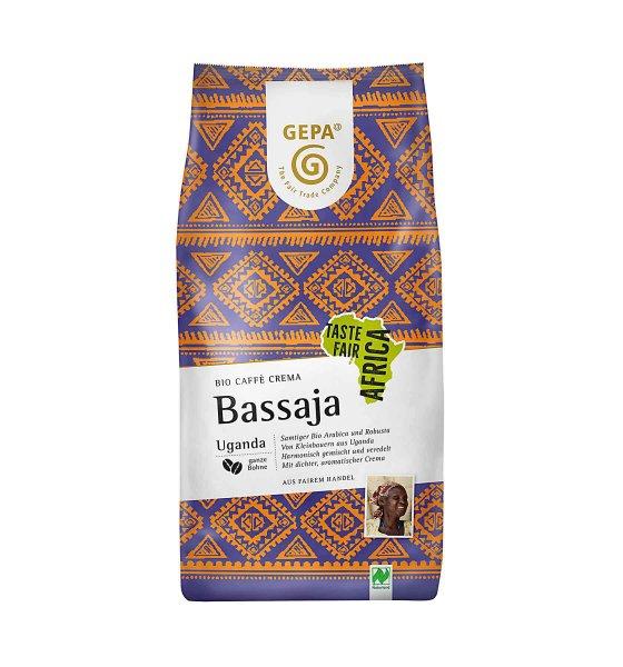 Bio-Kaffee Crema 'Bassaja', ganze Bohne-Bio-Kaffee Crema Bassaja ganze Bohne aus Fairem Handel von GEPA-Fairer Handel mit Kaffee, Espresso und Kakao-Fairtrade Bio-Kaffee Crema von GEPA aus Uganda Afrika