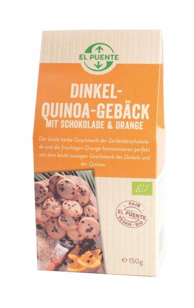 Bio-Dinkel-Quinoa Gebäck mit Orange & Schokolade