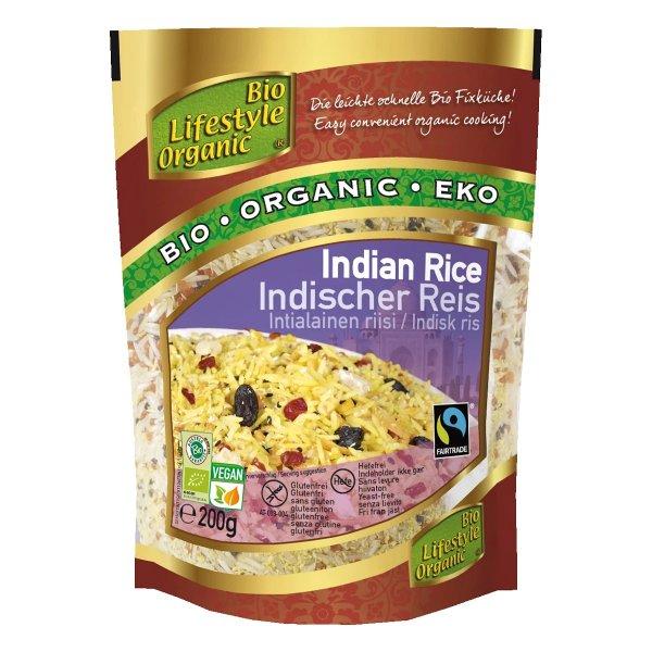 Indischer Reis, bio-Bio-Fertigmischung Indischer Reis aus Fairem Handel Lemberona-Fairer Handel mit Lebensmittel fuer die schnelle Kueche-Fairtrade Bio-Reis-Mischung von Kleinbauern aus Indien