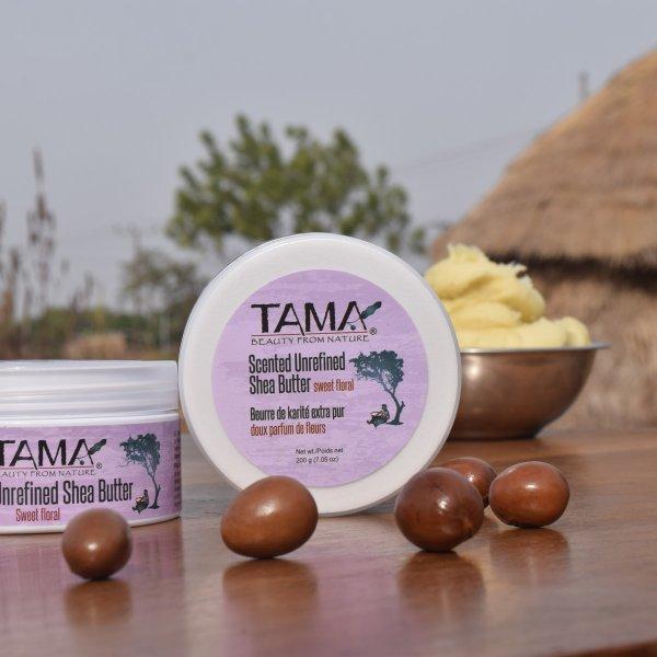 Sheabutter Lavendel, mini-Sheabutter Lippenpflege Lavendel aus Fairem Handel von TAMA-Fairer Handel mit Sheabutter und Naturkosmetik-Fairtrade Bio-Sheabutter Lippenpflege aus Ghana