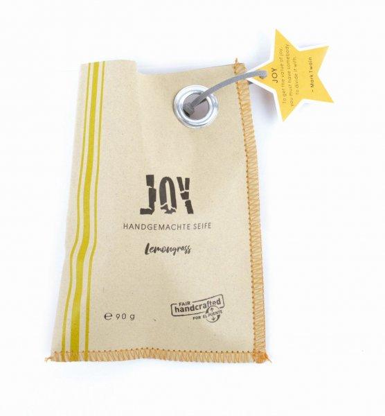 handgemachte Seife Joy - Sternform, vegan-vegane handgemachte Seife Lemongrass aus Fairem Handel von El Puente-Fairer Handel mit Naturkosmetik, Wellness und Geschenken-Fairtrade Pflanzenoel-Seife aus Thailand