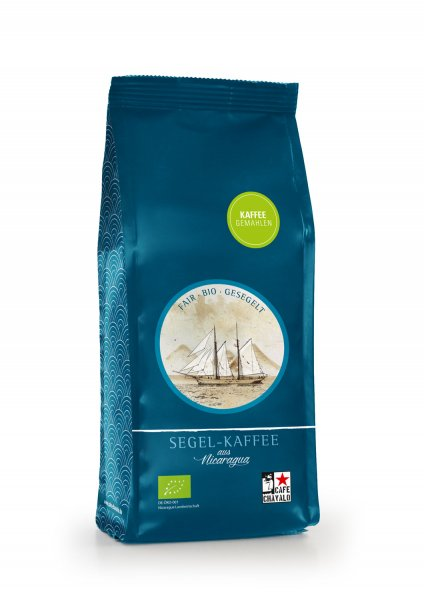 Bio-Segel-Kaffee, gemahlen-Bio-Roestkaffee Segel-Kaffee aus Fairem Handel von Cafe Chavalo-Fairer Handel mit Kaffee alternativ transportiert-Fairtrade Bio-Segel-Kaffee von Kleinbauern aus Nicaragua