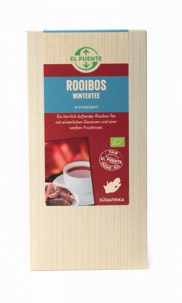 Bio-Rooibos 'Wintertee'-Bio-Rooibostee Winter aus Fairem Handel von El Puente-Fairer Handel mit Rooibos und Tee aus Suedafrika-Fairtrade Bio-Rooibostee von Kleinbauern