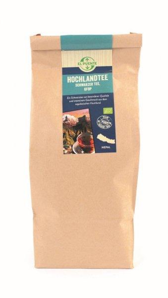 Bio-Schwarztee Nepal Hochland GFOP, Grosspackung-Hochland Bio-Schwarztee Nepal aus Fairem Handel von El Puente-Fairer Handel mit Tee von Kleinbauern-Fairtrade Bio-Schwarztee aus dem Hochland Nepal Grosspackung