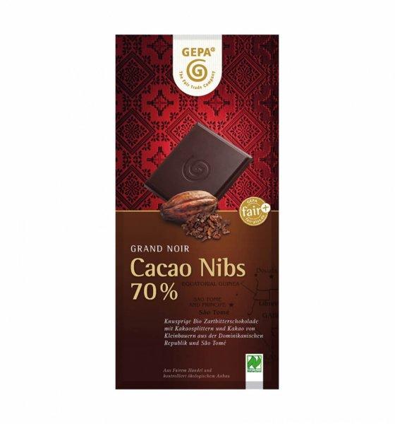 Bio-Zartbitterschokolade Cacao Nibs
