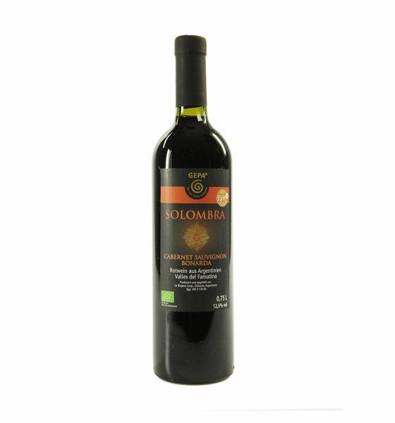 Bio-Cabernet Sauvignon-Bonarda 2015 - Solombra-Bio-Rotwein trocken vegan aus Fairem Handel-Fairer Handel mit veganen Weinen-Faitrade Bio-Rotwein vegan aus Argentinien