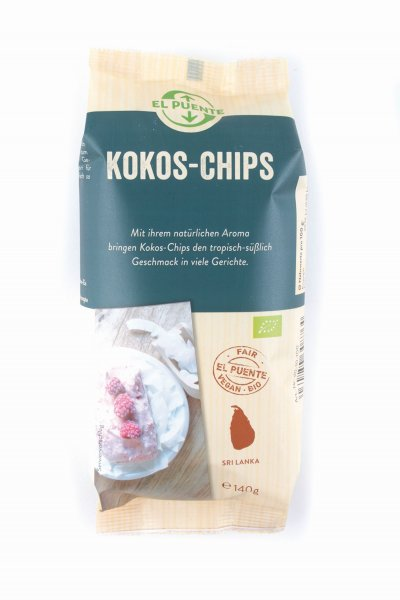 Kokoschips-Bio-Kokoschips aus Fairem Handel-Fairer Handel mit Kokos-Fair Trade Bio-Kokoschips aus Sri Lanka