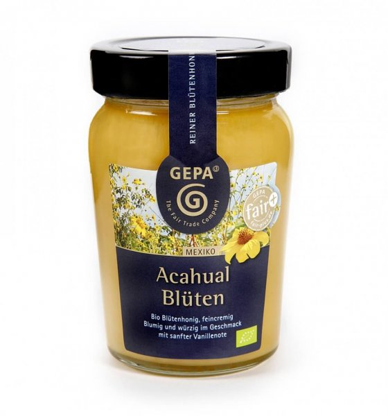 Bio-Honig Acahualblüten-Bio-Honig Acahualblueten aus Fairem Handel-Fairer Handel mit Honig-Fair Trade Bio-Honig aus Mexiko