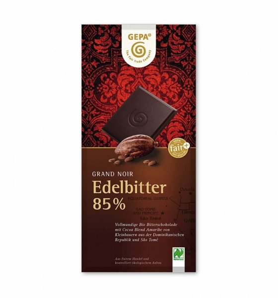 Bio-Zartbitterschokolade Edelbitter