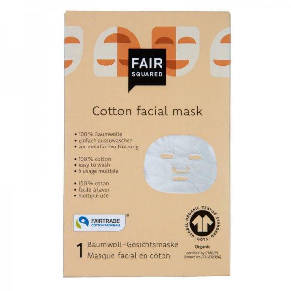 Bio-Baumwoll Gesichtsmaske-Bio-Baumwoll Gesichtsmaske aus Fairem Handel von Fair Squared-Fairer Handel mit Kosmetik und Wellnessprodukten-GOTS zertifizierte Baumwoll Gesichtsmaske Fairtrade