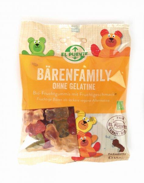 Bio-Gummibaerchen Baeren-Family-vegane Bio-Gummibaerchen aus Fairem Handel von El Puente-Fairer Handel mit Gummibaerchen und Suessigkeiten-Vegane Fair Trade Bio-Gummibaerchen aus Paraguay
