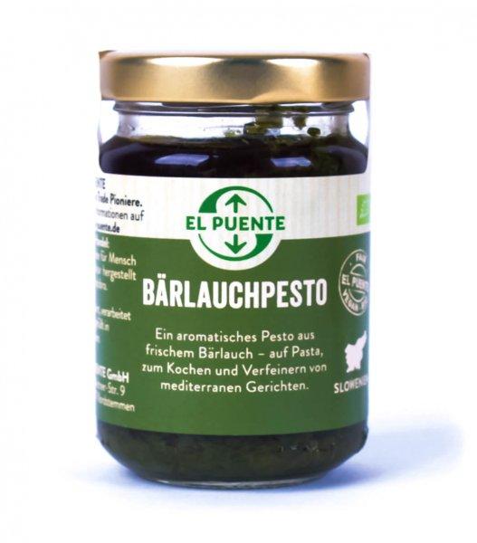 Bio-Bärlauchpesto-Bio-Baerlauchpesto pur aus Fairem Handel-Fairer Handel in Europa und Slowenien-Fair Trade Bio-Pesto Baerlauch von El Puente