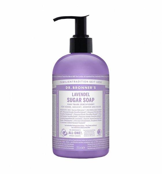 Bio-Sugar Soap Flüssigseife Lavendel-Bio-Sugar Soap Lavendel aus Fairem Handel-Fairer Handel mit Naturkosmetik und Seifen-Fair Trade Bio-Seife Lavendel von Dr. Bronner's