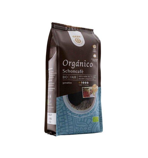 Bio-Röstkaffee Orgánico Schonkaffee, gemahlen-Bio-Roestkaffee magenfreundlich Schonkaffee aus Fairem Handel von GEPA-Fairer Handel mit Kaffee und Kakao-Fair Trade Bio-Roestkaffee aus Mexiko und Guatemala