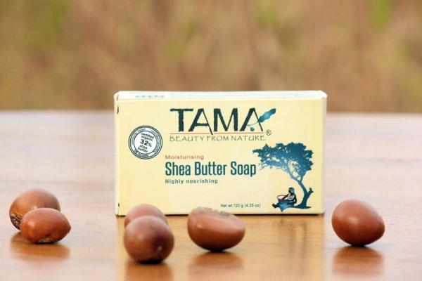 Sheabutterseife, 35g-natuerliche Sheabutterseife aus Fairem Handel von TAMA-Fairer Handel mit Sheabutter und Naturkosmetik-Fairtrade Bio-Sheabutter Seife von Frauenkooperative aus Ghana