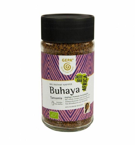 Bio-Instant Kaffee 'Buhaya'-loeslicher Bio-Instant Kaffee Buhaya aus Fairem Handel von GEPA-Fairer Handel mit Instant Kaffee, Espresso und Kakao-Fairtrade Bio-Instant Kaffee von GEPA aus Tansania Afrika
