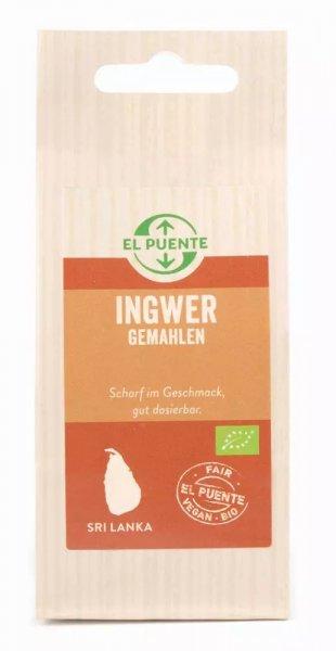 Bio-Ingwer, gemahlen-Bio-Ingwer gemahlen aus Fairem Handel von El Puente-Fairer Handel mit Gewuerzen und Kraeutern-Fairtrade Bio-Ingwer von Podie aus Sri Lanka