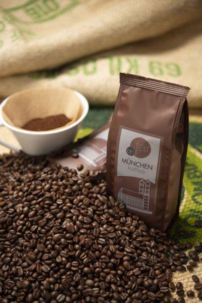 München Kaffee Bio-Röstkaffee, gemahlen-Bio-Roestkaffee Muenchen Kaffee aus Fairem Handel von GEPA-Fairer Handel mit Kaffee und Kakao-Fairtrade Bio-Roestkaffee Muenchen Kaffee FairKauf