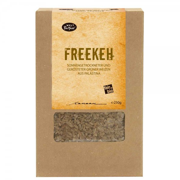 Bio-Freekeh-Bio-Freekeh sonnengetrocknet Gruenkern aus Fairem Handel-Fairer Handel mit Freekeh, Weizen und Gruenkern-Fair Trade Bio-Freekeh Gruenkern aus Palaestina
