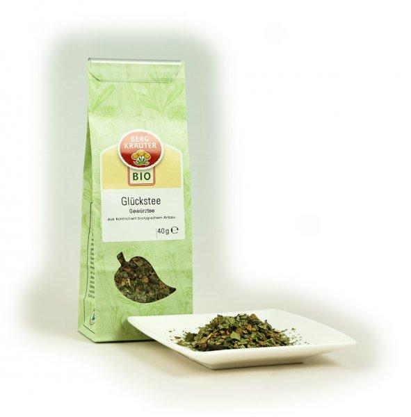 Glückstee Bio-Kräutertee-Bio-Kraeutertee Glückstee aus Fairem Handel von Bergkraeuter-Fairer Handel mit Tee und Kraeutern in Europa-Fairtrade Bio-Kraeutertee aus Oesterreich