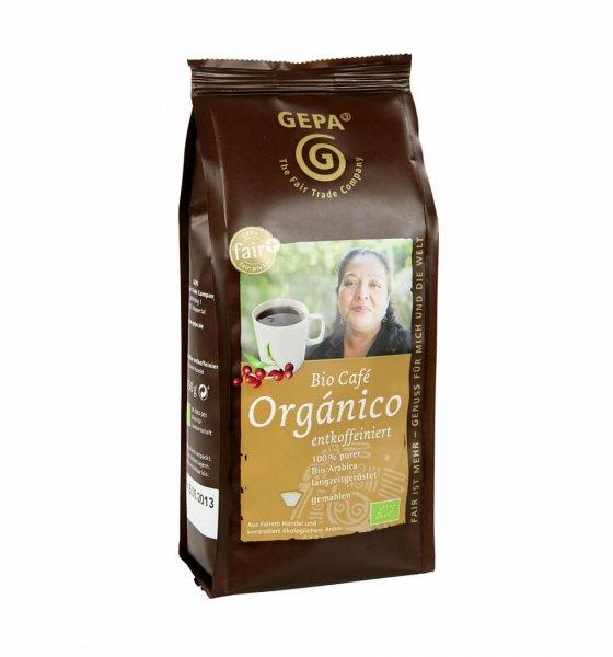 Bio-Röstkaffee Orgánico entkoffeiniert, gemahlen