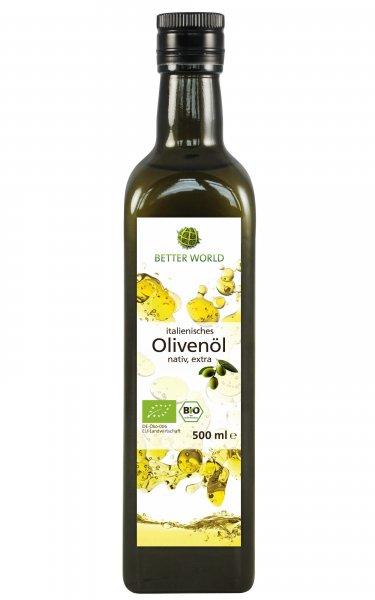 italienisches Bio-Olivenöl, nativ extra-Bio-Olivenoel extra vergine sozial verantwortlich gehandelt-Fairer Handeln mit Oliven und Olivenoel von Menschen mit Behinderung-Fairtrade Bio-Olivenoel nativ extra von Betterworld Italien