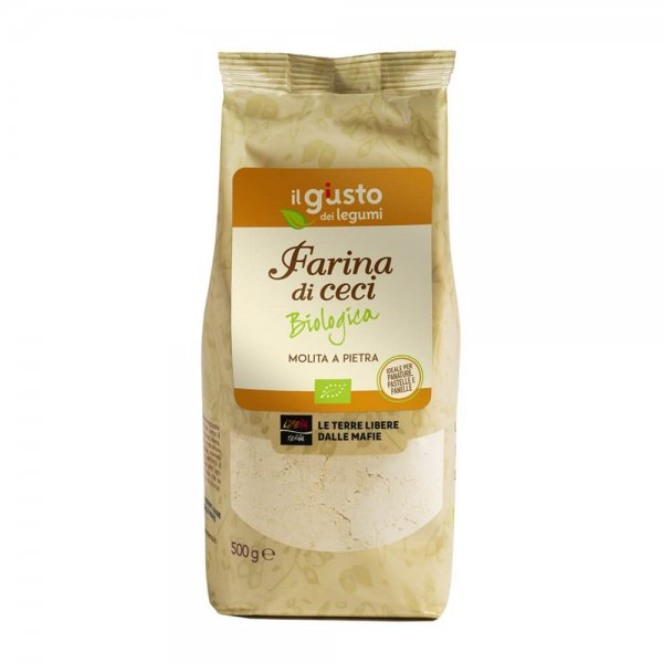 Bio-Kichererbsenmehl-Bio-Kichererbsenmehl glutenfrei von Libera Terra Sizilien-Fairer Handel ohne Mafia in Europa und Italien-Fair Trade Bio-Kichererbsenmehl von Libera Terra Italien